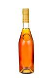 古典科涅克白兰地瓶。 免版税库存图片