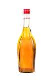 古典科涅克白兰地瓶。 免版税库存照片