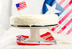 古典纽约乳酪蛋糕 免版税库存图片