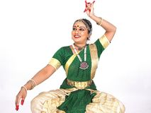 古典舞蹈演员印度 库存照片