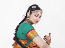 古典舞蹈演员女性印度 免版税库存图片