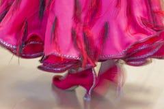 古典舞蹈竞争,细节 库存图片