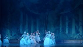 古典芭蕾空气的精灵 影视素材