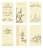 古典葡萄酒老框架设计 库存照片