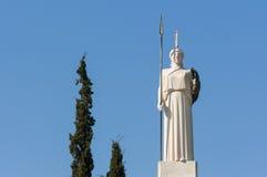 古典雅典娜雕象 免版税库存图片