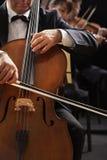 古典音乐、大提琴手和小提琴手 库存照片