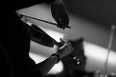 古典音乐的古典小提琴手 免版税库存照片