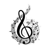 古典音乐附注向量通知 免版税库存照片