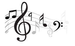 古典音乐附注向量通知 皇族释放例证