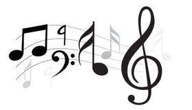 古典音乐附注向量通知 库存例证