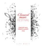 古典音乐音乐会海报模板 皇族释放例证
