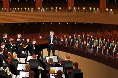 古典音乐音乐会 向量例证