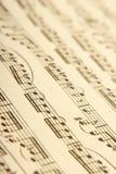 古典音乐页 免版税库存图片