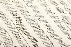 古典音乐页 免版税图库摄影