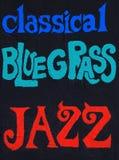 古典, Bluegrass,爵士乐 免版税库存照片