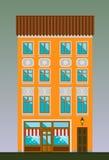 古典主义样式的寓所 古典镇 库存图片