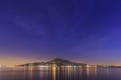 古典tamsui nightscene在新北市 免版税库存图片