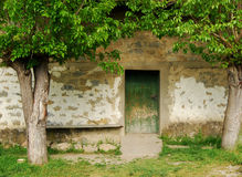 古国房子门 库存照片