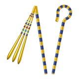 古埃及法老王弯曲处和连枷  向量例证