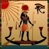古埃及的宗教信仰 库存图片