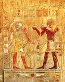 古埃及颜色图象 免版税库存图片