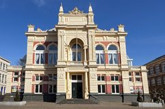 古城剧院在格罗宁根 免版税库存图片