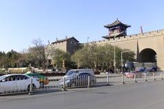 古城和现代城市是完善的融合 免版税库存图片