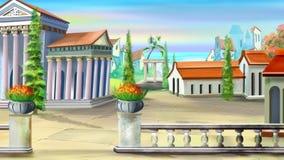 古城在一个夏日 免版税库存照片
