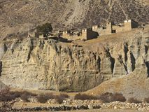 古城在尼泊尔 库存图片