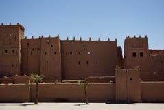 古城在撒哈拉大沙漠 免版税库存照片