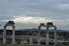古城希拉波利斯的遗物 免版税库存图片