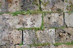 古城的石墙 免版税库存照片