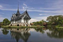古城的Sanphet Prasat宫殿 库存图片