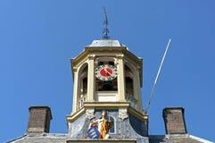 古城门上面Koepoort在恩克赫伊森 库存图片
