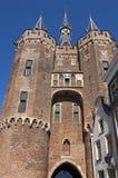 古城门Sassenpoort在兹沃勒 库存图片