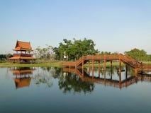 古城,曼谷美丽的景色  库存照片