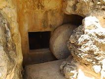 古墓在Yad Hashmona,以色列 免版税库存图片