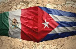 古巴和墨西哥 库存例证