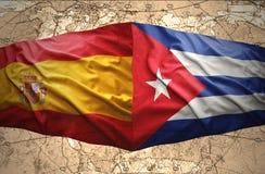 古巴和西班牙 皇族释放例证