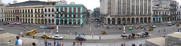 古巴哈瓦那全景 免版税库存图片