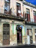 古巴哈瓦那房子 免版税库存图片