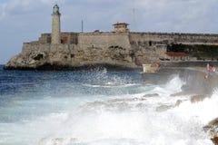 古巴哈瓦那灯塔 免版税库存图片