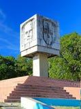 古巴喷泉jose marti纪念碑 免版税图库摄影