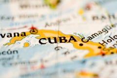 古巴映射 免版税库存图片