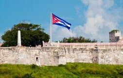 古巴标志堡垒哈瓦那墙壁 免版税图库摄影