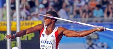 古巴标枪mendieta投掷 免版税库存图片