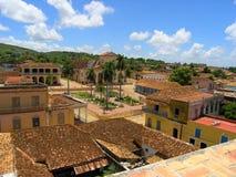 古巴横向城镇 免版税库存照片