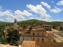 古巴横向城镇 图库摄影