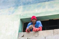 古巴民工在哈瓦那 库存图片