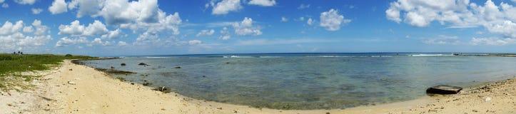 古巴海岸的全景 库存照片
